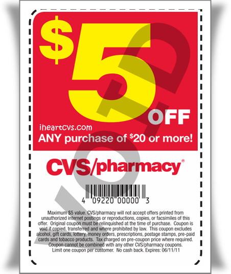 graphic relating to Abreva Coupons Printable identify i center cvs: $5 off $20 coupon inside of diverse 6/09 newpapers