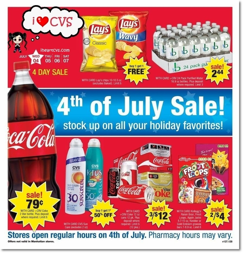 i heart cvs ads  07  04  07 4 day sale