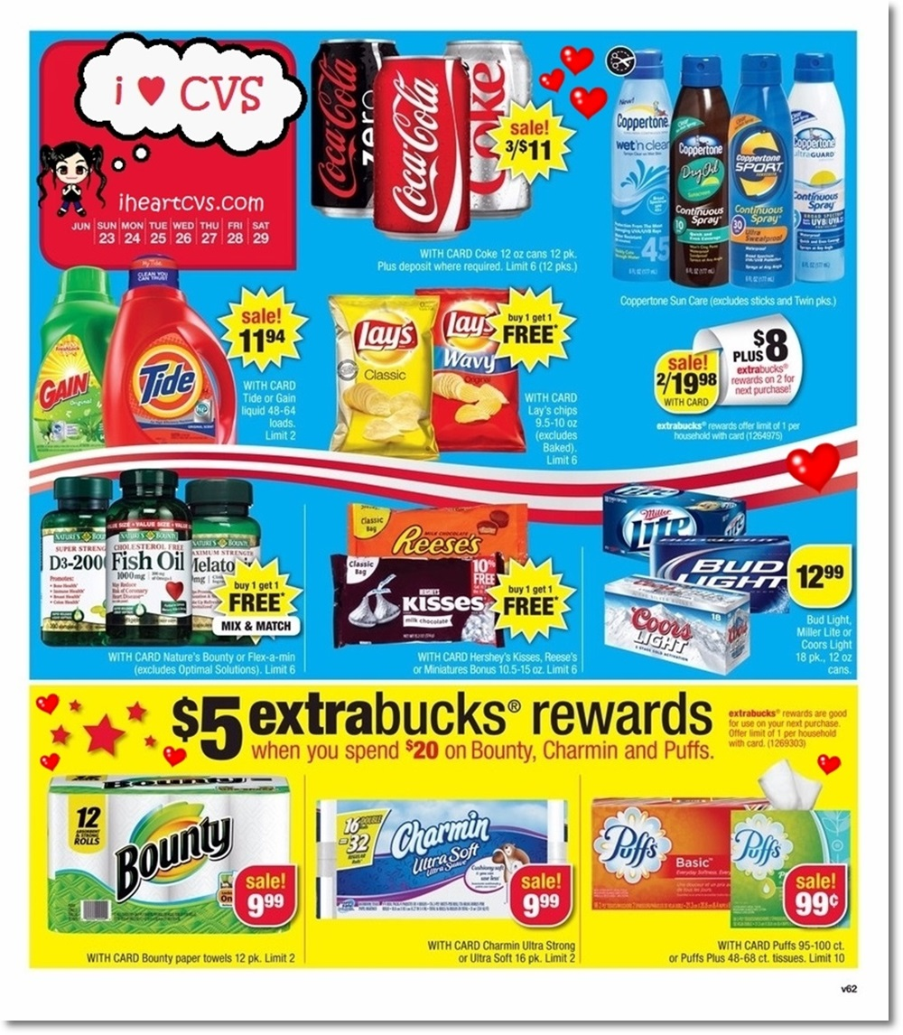 I Heart Cvs Ads 06 23 06 29 View drug store ads in advance, get the scoop on the best deals and coupons, save money! i heart cvs ads 06 23 06 29