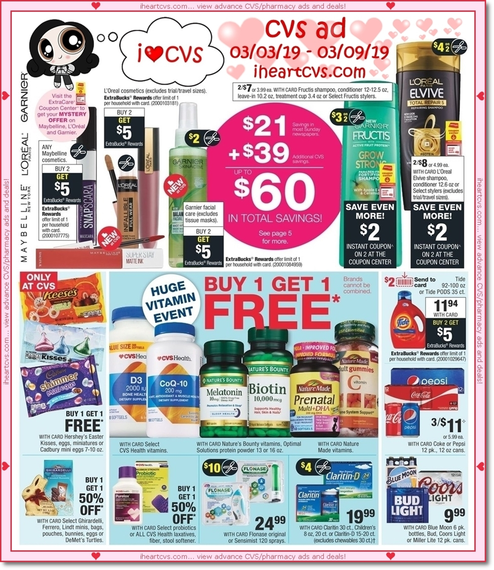 I Heart Cvs Ads 03 03 03 09 Keep up to date with the latest and hottest deals at cvs! i heart cvs ads