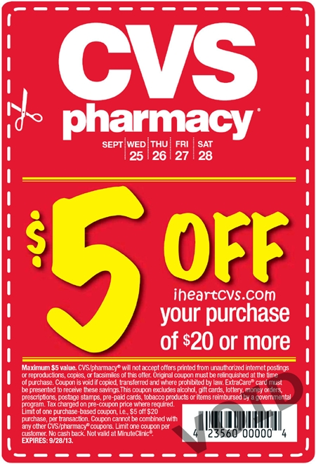 Cvs 25 off coupon in store printable