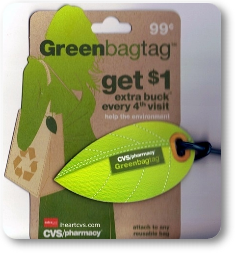 i heart cvs  green bag tag   program ended