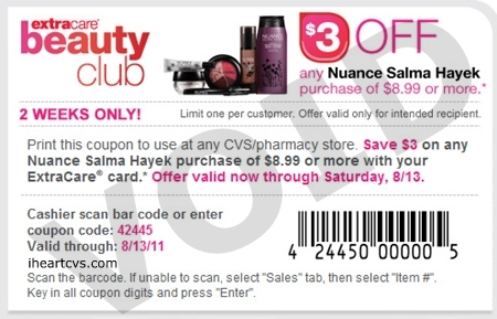 Nuance shampoo coupons