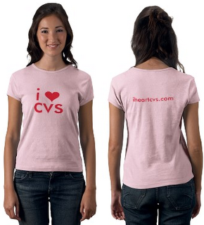 i heart cvs ladies tee shirt